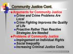 community justice cont