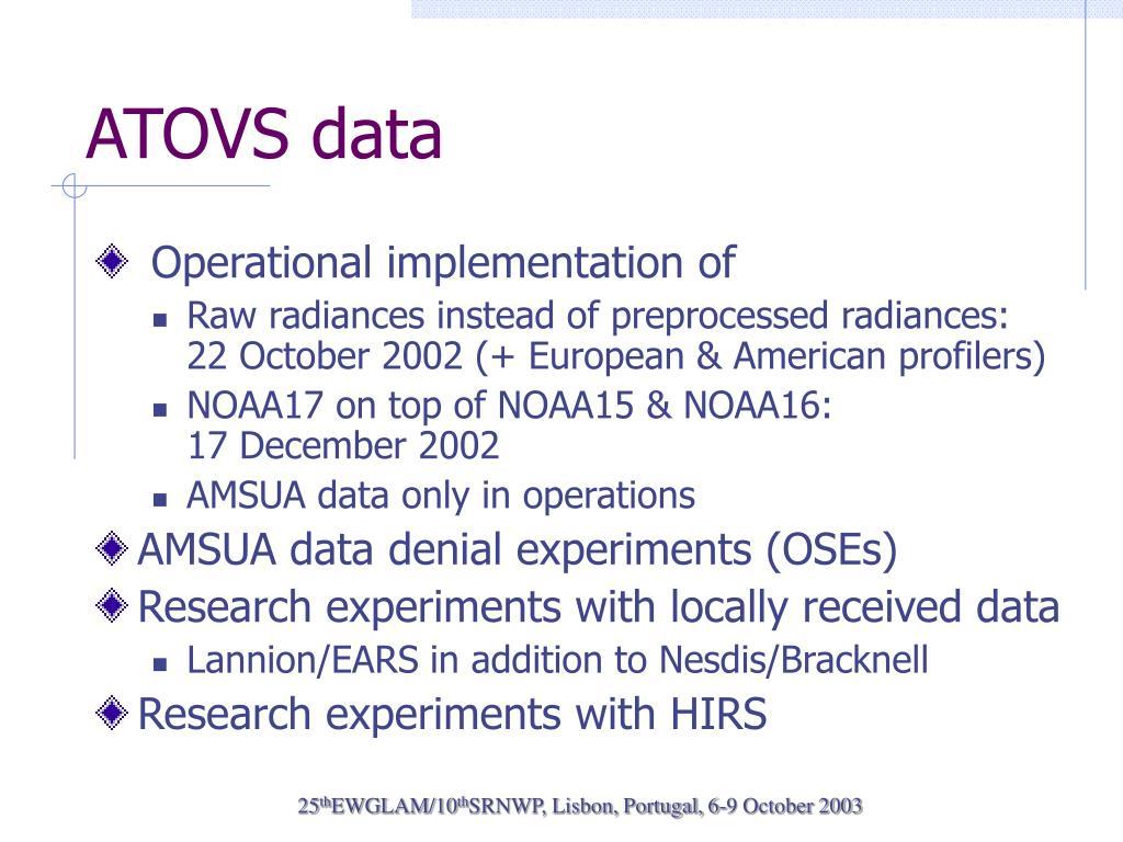 ATOVS data