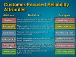 customer focused reliability attributes