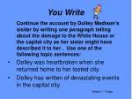 you write