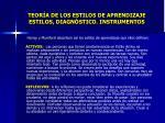 teor a de los estilos de aprendizaje estilos diagn stico instrumentos6