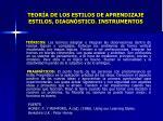 teor a de los estilos de aprendizaje estilos diagn stico instrumentos7