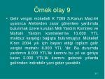 rnek olay 9