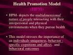 health promotion model hpm