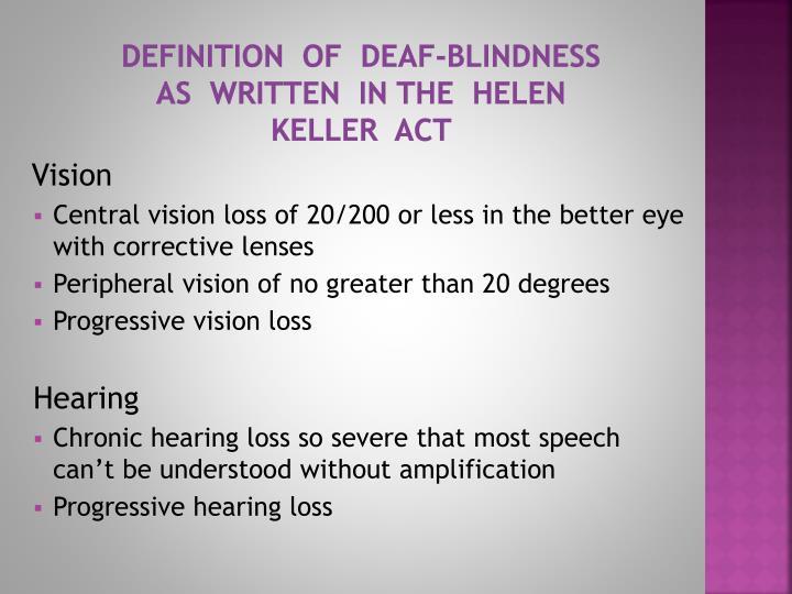 ppt - ssp   deaf