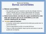 bonos con opciones bonos convertibles1
