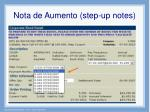 nota de aumento step up notes1
