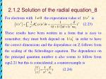 2 1 2 solution of the radial equation 8