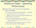 additional detail operating performance