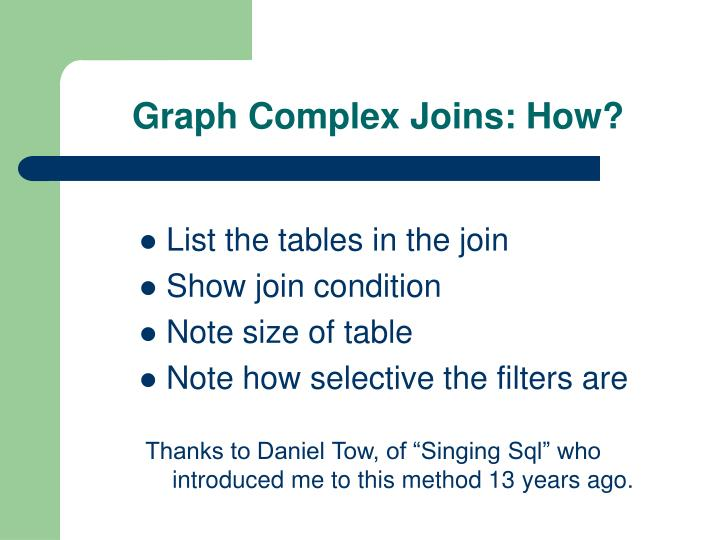 Graph Complex Joins: How?