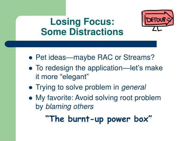 Losing Focus: