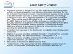 laser safety chapter