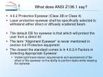 what does ansi z136 1 say