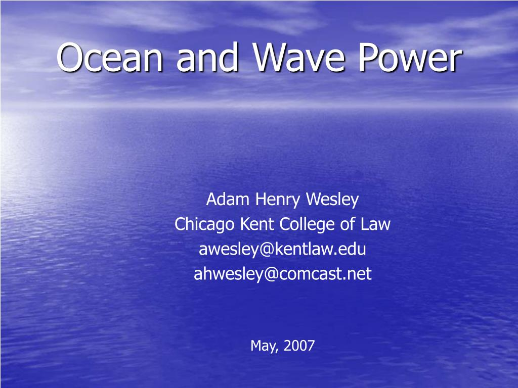 ocean and wave power