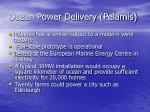 ocean power delivery pelamis