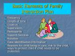 basic elements of family interaction plan