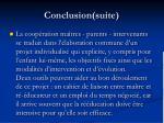 conclusion suite