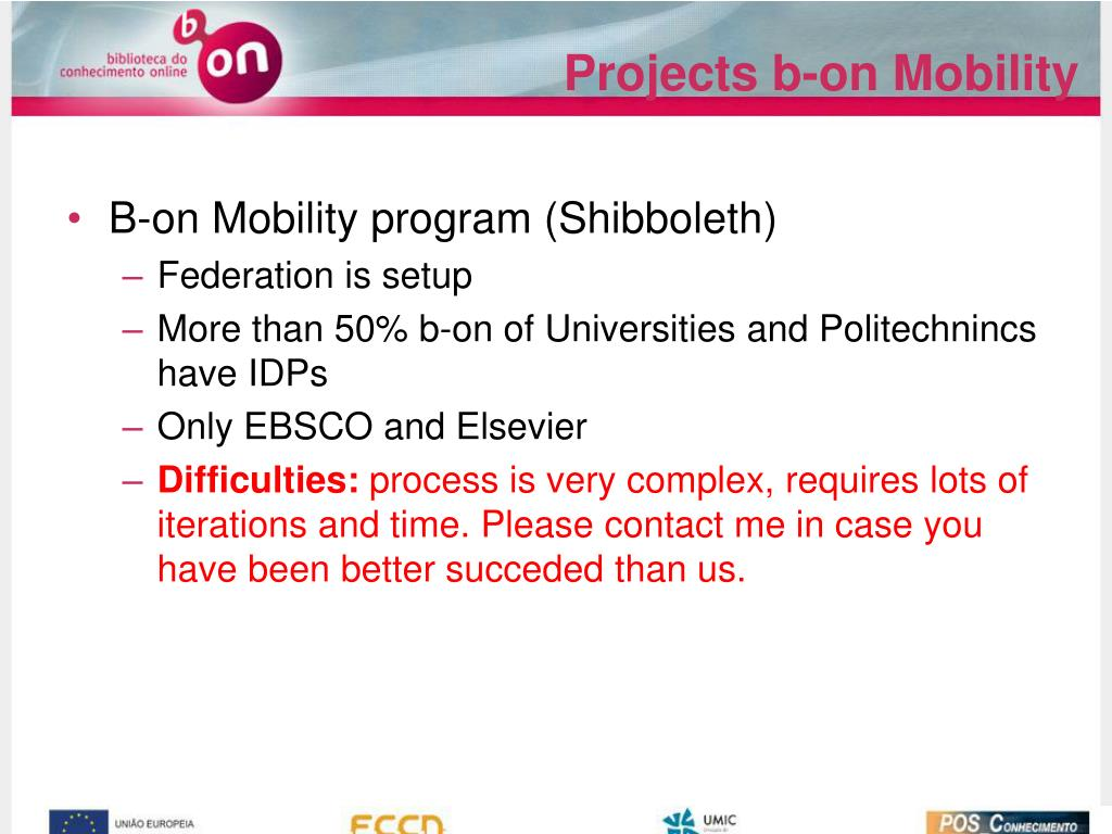 Projects b-on Mobility