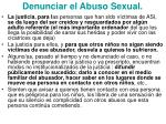 denunciar el abuso sexual