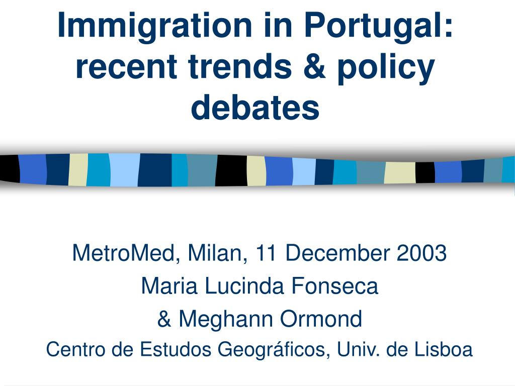 immigration in portugal recent trends policy debates l.