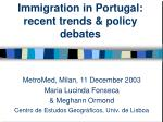 immigration in portugal recent trends policy debates