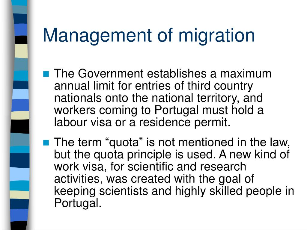 Management of migration