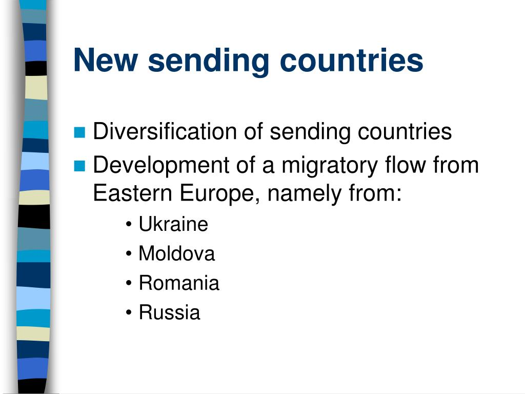 New sending countries