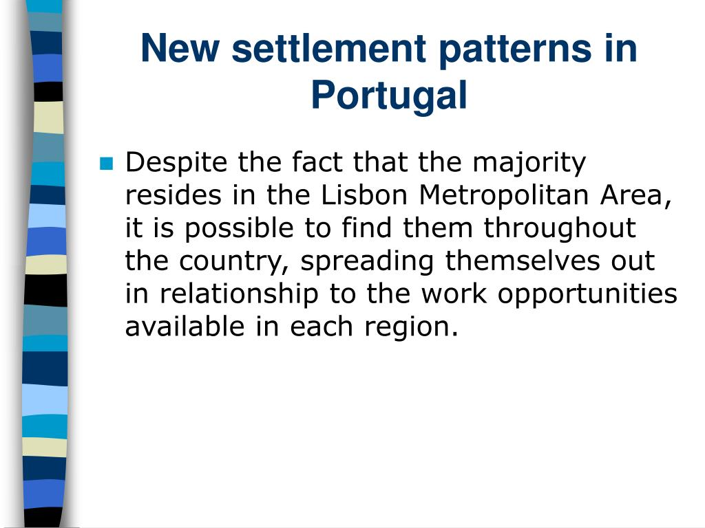 New settlement patterns in Portugal