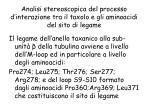 analisi stereoscopica del processo d interazione tra il taxolo e gli aminoacidi del sito di legame1