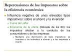 repercusiones de los impuestos sobre la eficiencia econ mica1