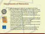 departments of distinction