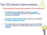 tier iii intense interventions