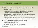 crr settlement rule netting