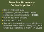 derechos humanos y control migratorio