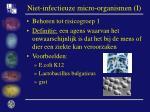 niet infectieuze micro organismen i