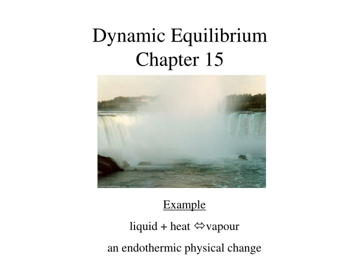 dynamic equilibrium chapter 15 n.