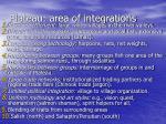 plateau area of integrations
