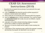 ceab ga assessment instructions 2010