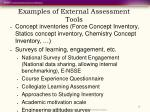 examples of external assessment tools