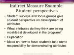 indirect measure example student perspectives