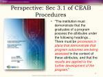 perspective sec 3 1 of ceab procedures