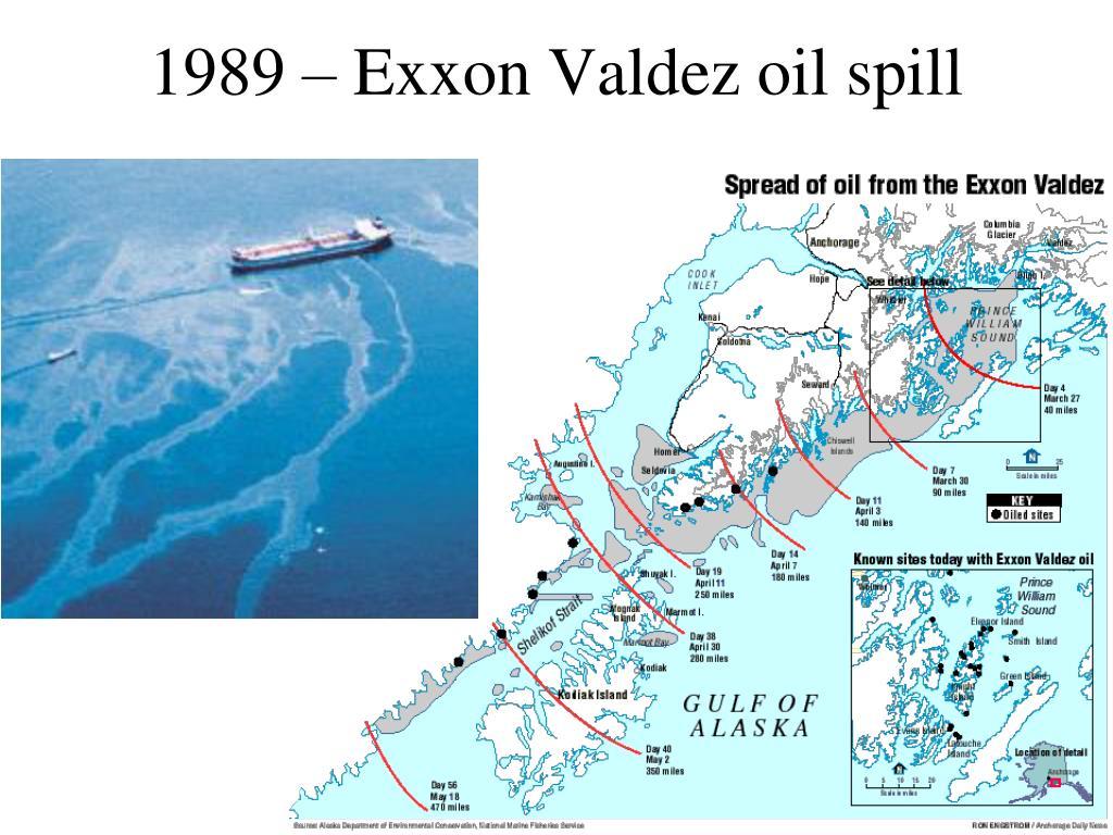 1989 – Exxon Valdez oil spill