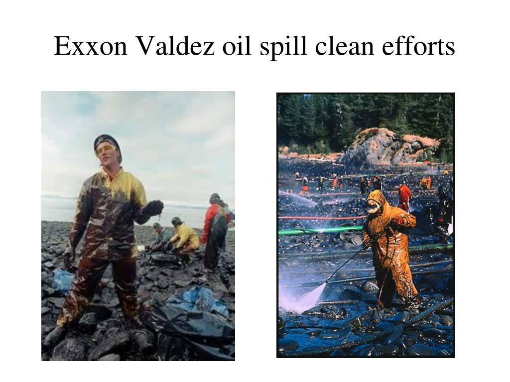 Exxon Valdez oil spill clean efforts