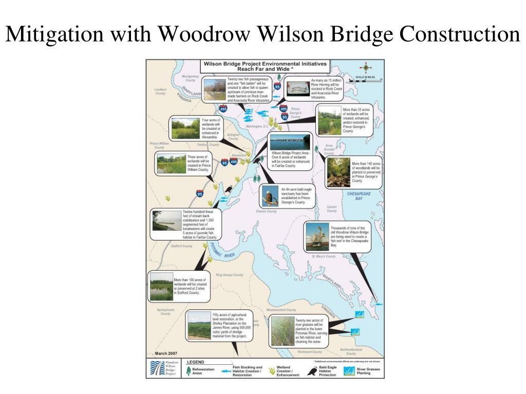 Mitigation with Woodrow Wilson Bridge Construction