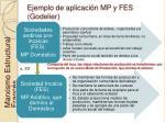 ejemplo de aplicaci n mp y fes godelier