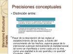 precisiones conceptuales