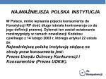 najwa niejsza polska instytucja