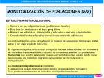 monitorizaci n de poblaciones 2 2
