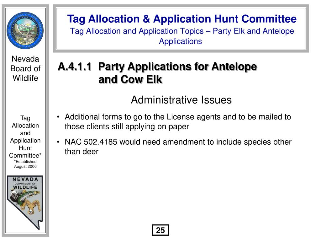 A.4.1.1  Party Applications for Antelope