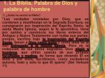 1 la biblia palabra de dios y palabra de hombre